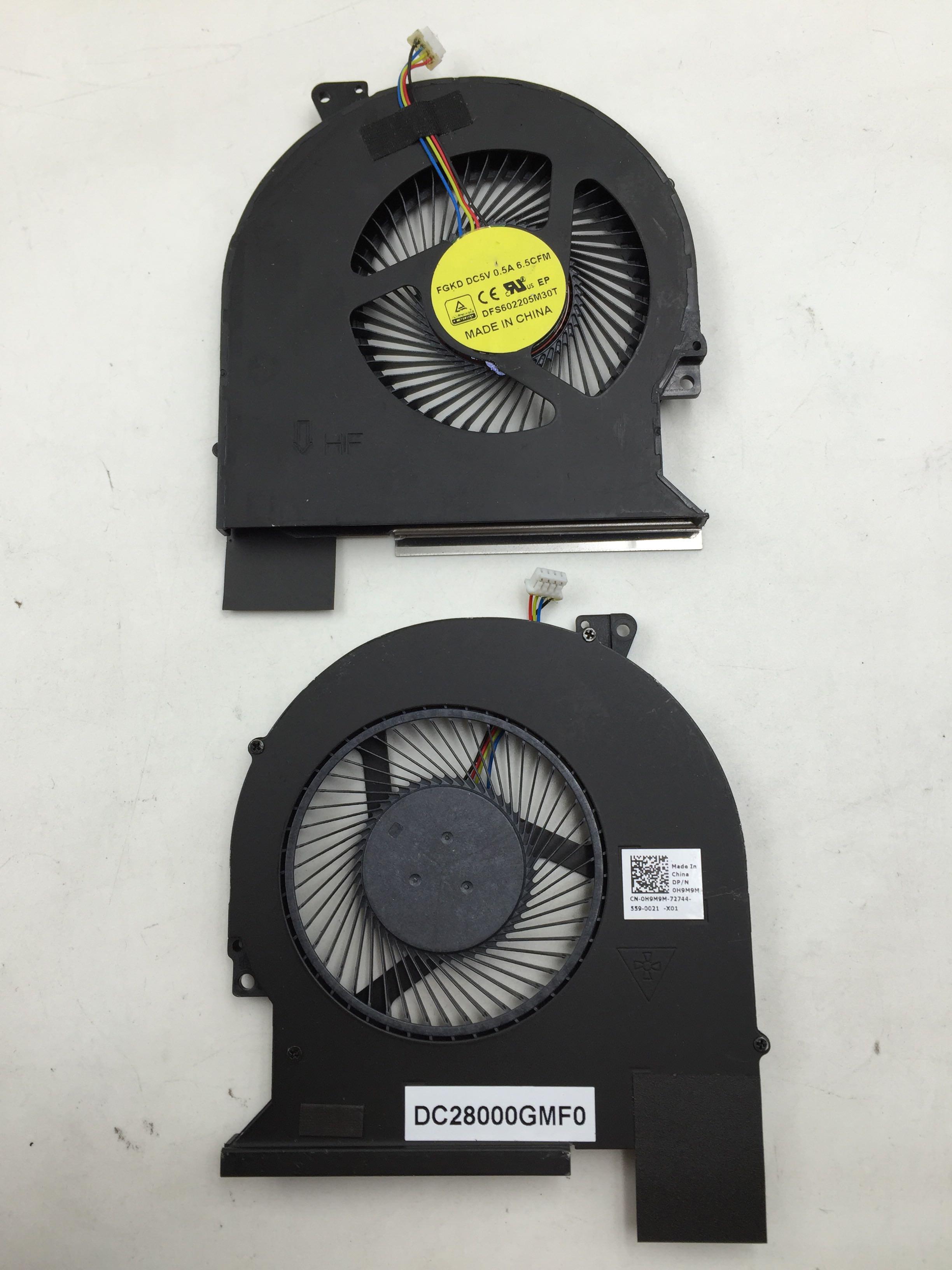 original for Dell Latitude E5570 fan cooler 0H9M9M H9M9M cn-0H9M9M DC28000GMF0