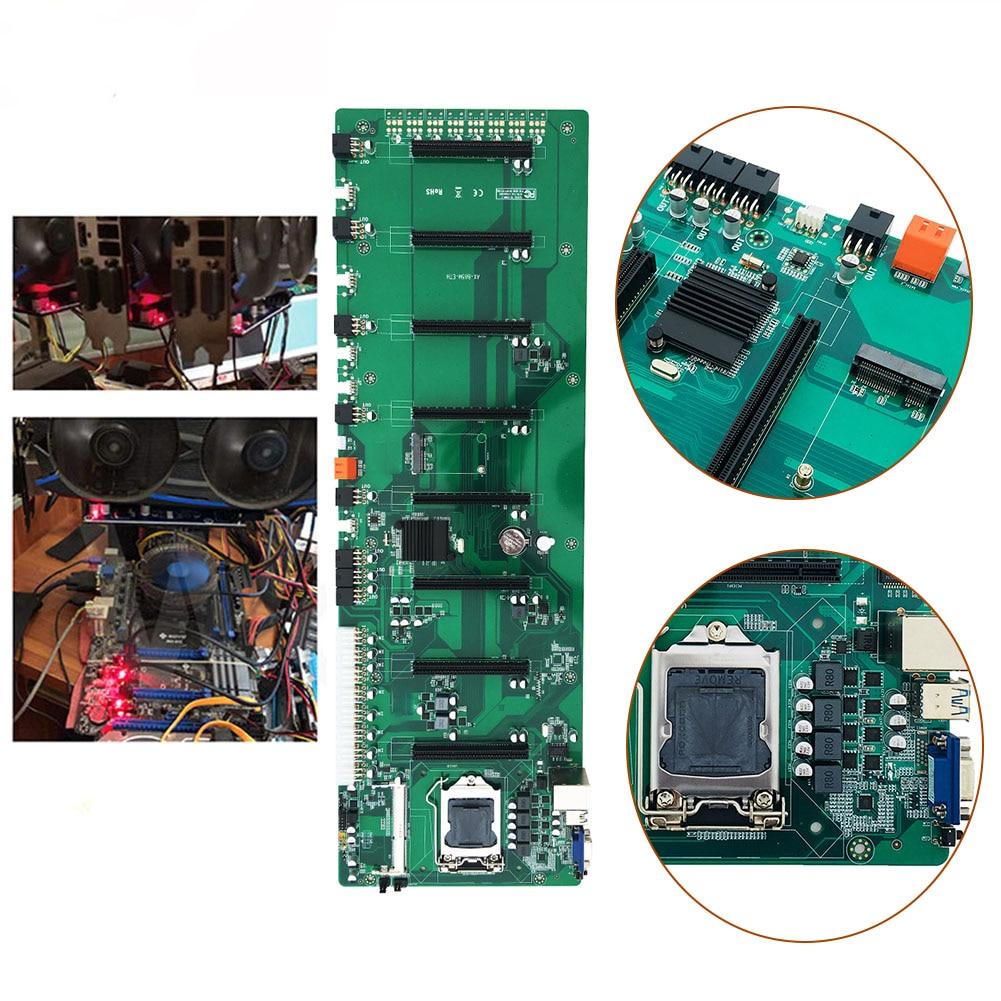 B85 في خط BTC متعددة الرسومات 8 بطاقة اللوحة ETH مساحة كبيرة الألغام مجلس متعددة الرسومات 8 بطاقة لوحة أم للكمبيوتر