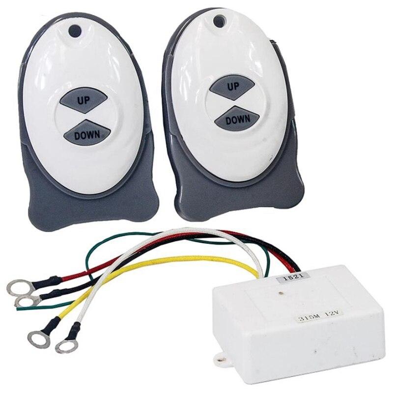 Dual Control Remoto-ancla remoto molinete inalámbrico barco Trim controlador