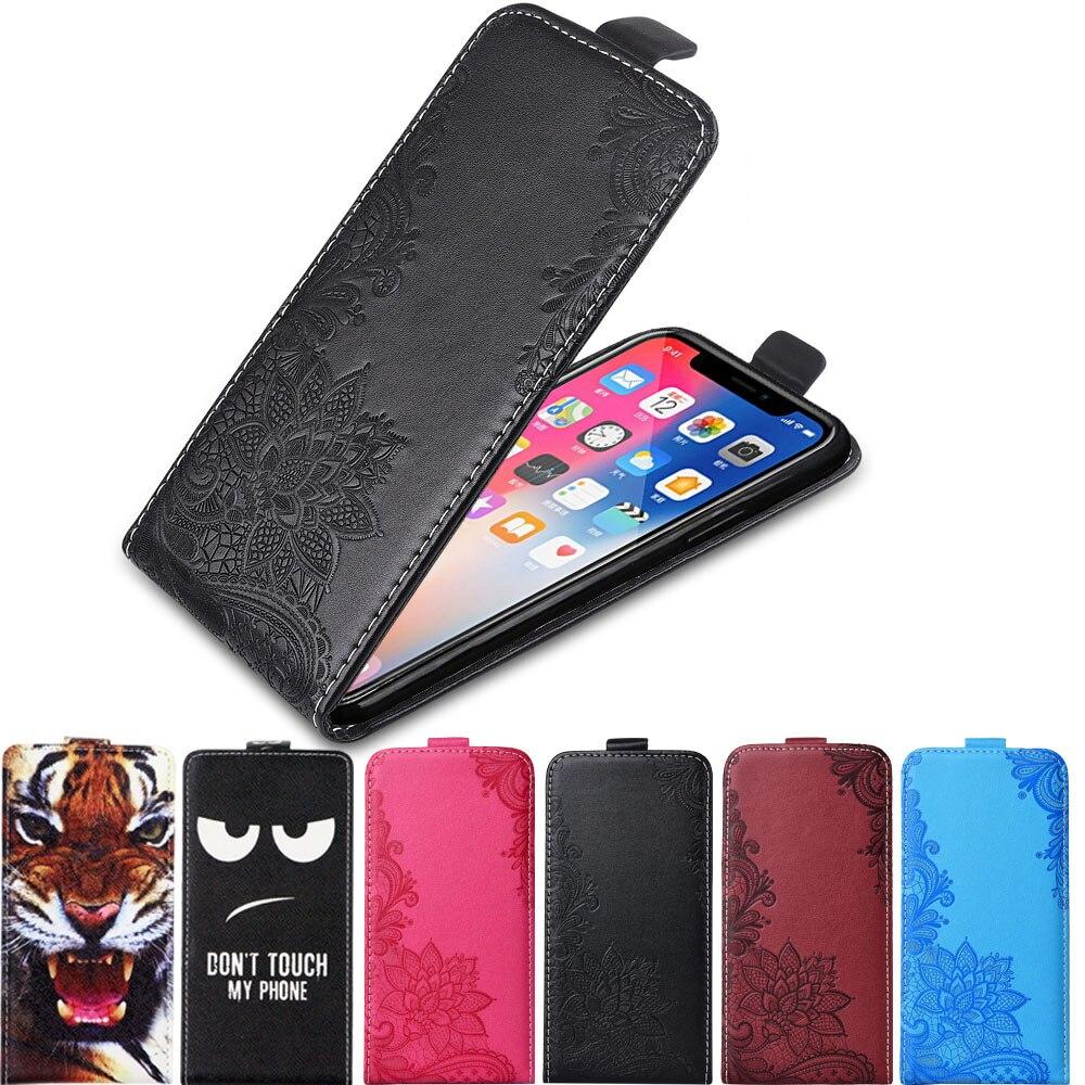 Case on For Oukitel C17 Pro Case 3D Flower Cute Cartoon Vertical Flip Leather Case Back Cover