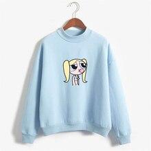 new buttercup power aesthetic Round Neck Pullover Long Sleeve Casual Unisex Sweatshirt Hoodie Harajuku hip hop leisure Sweatshir