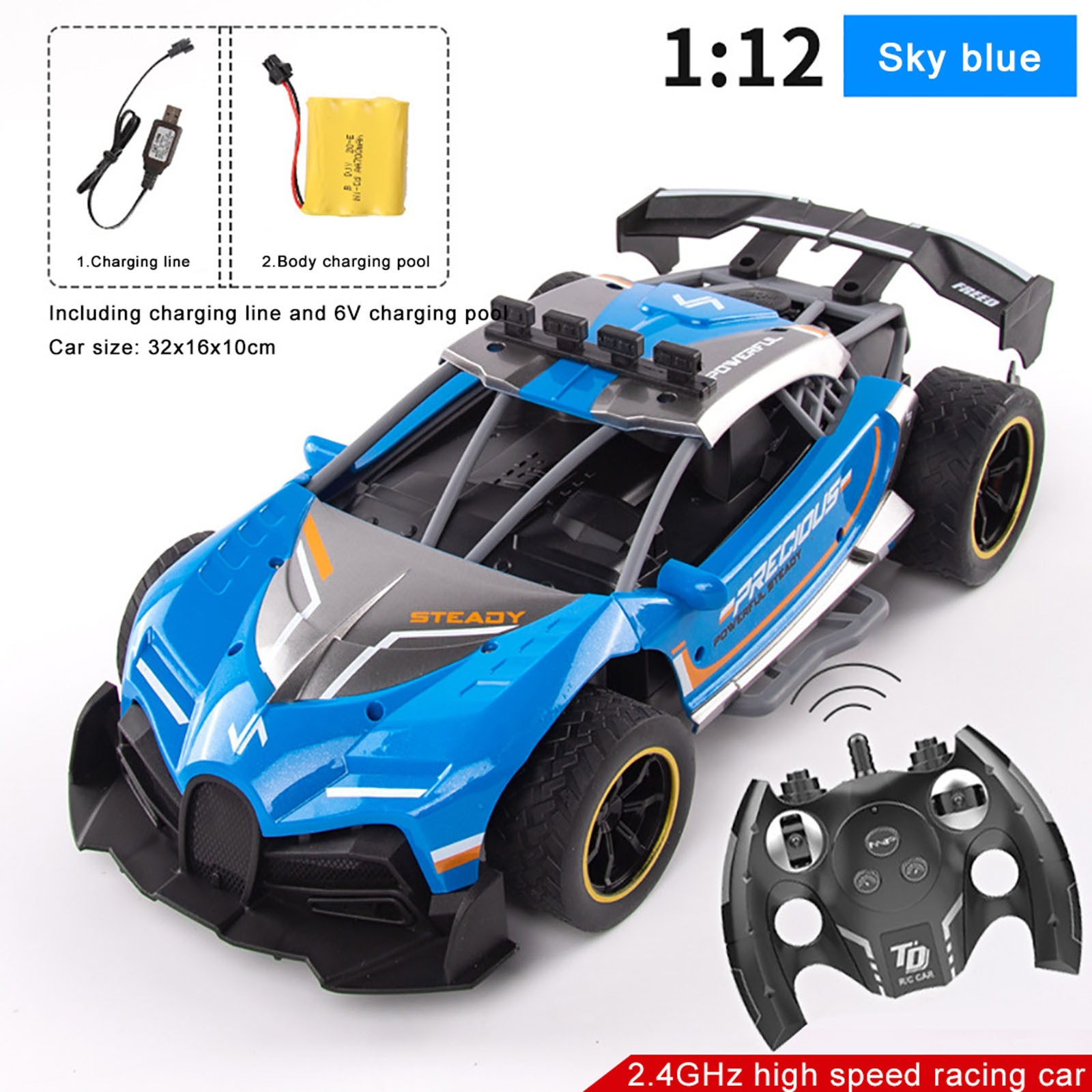 RC Car For  2.4G Drift Racing Car Championship 4WD Off-Road Radio Remote Control Vehicle Electronic Hobby Toys For Kids enlarge