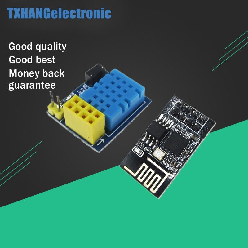 ESP8266 ESP-01 ESP-01S DHT11 Módulo de Sensor de temperatura y humedad ESP8266 Wifi NodeMCU casa inteligente IOT (con ESP01) diy