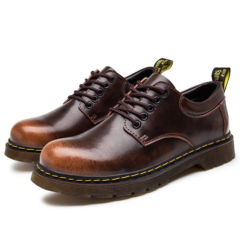 مارتن الأحذية الرجال المنخفضة top 2021 الربيع والخريف 7863 أحذية من الجلد الرجال النمط البريطاني جلد الصيف كل مباراة قصيرة b