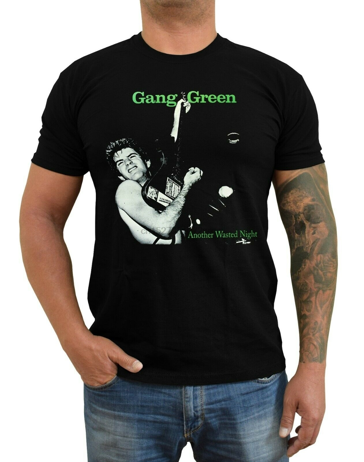 Banda Verde otra noche desperdiciada, camiseta de la banda Punk Hardcore (negro) S-5XL