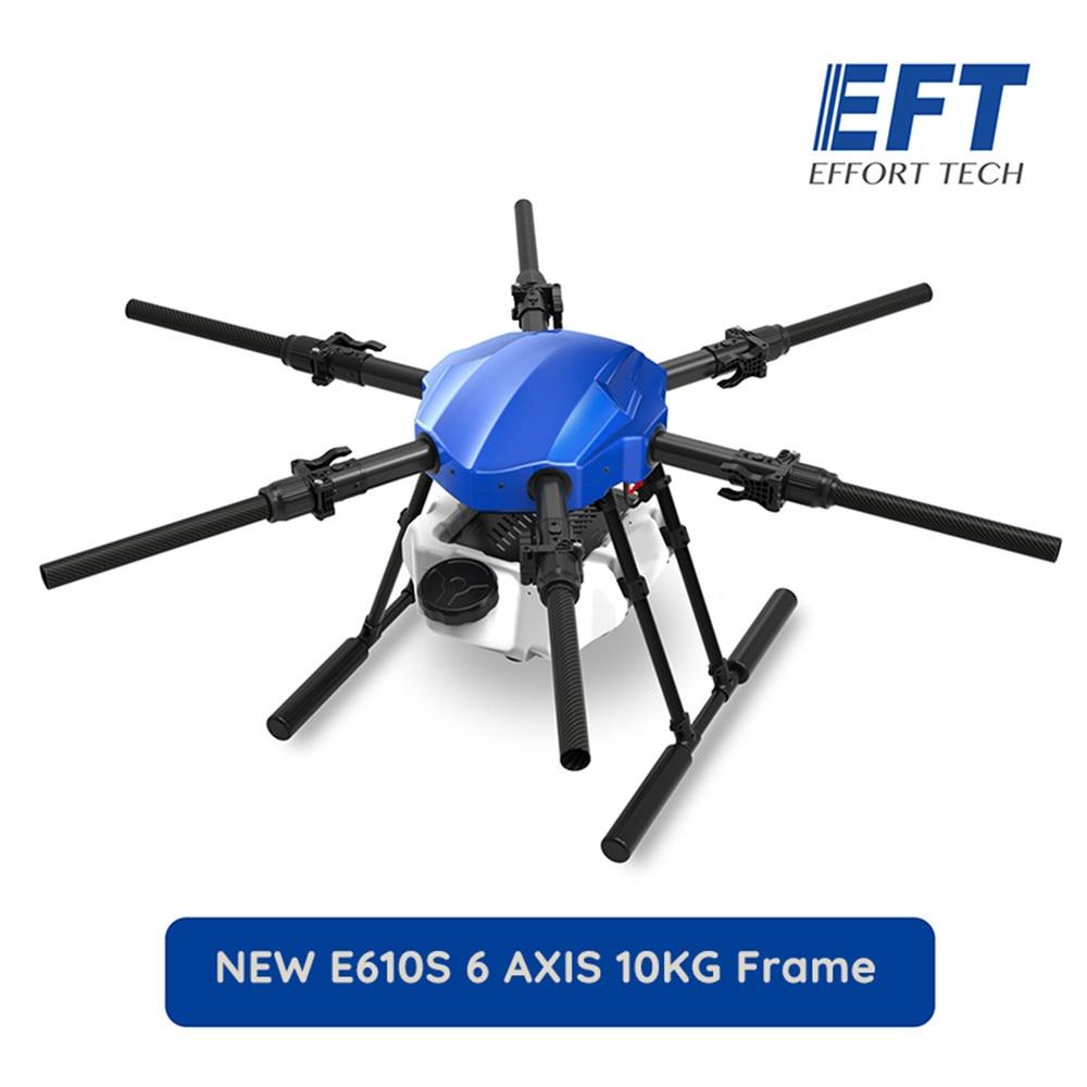 EFT E610p 10 كجم 1404 مللي متر قاعدة العجلات رحلة منصة للماء الزراعية طائرة دون طيار للرش 10L x6 المحرك