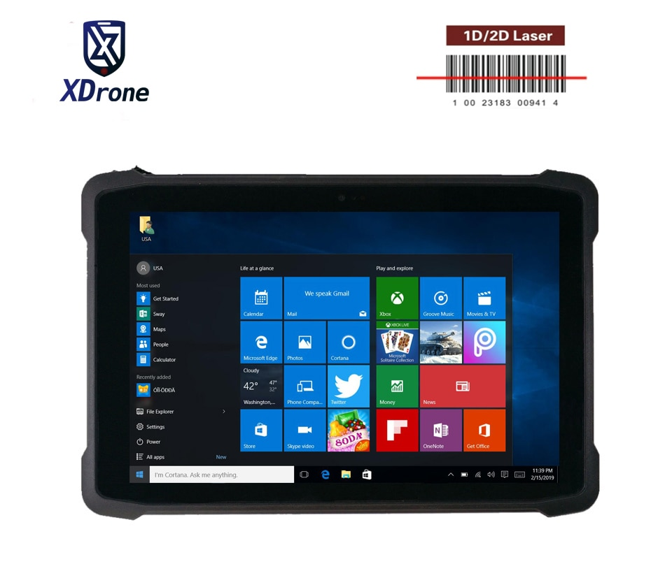 2021 Kcosit K11F Rugged Windows Tablet PC Intel Z3735F 10.1