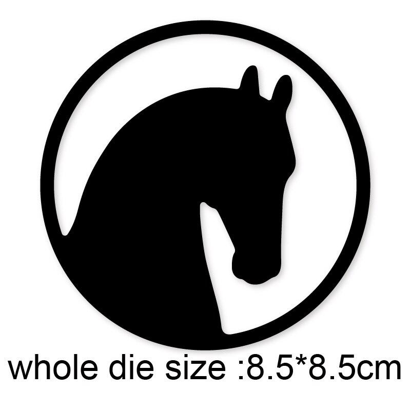Troqueles de corte de Metal, marco de círculo de caballo 2020, recién llegado, plantilla de troquel artesanal para bricolaje álbum de recortes papel/troqueles de grabado en relieve de tarjetas fotográficas