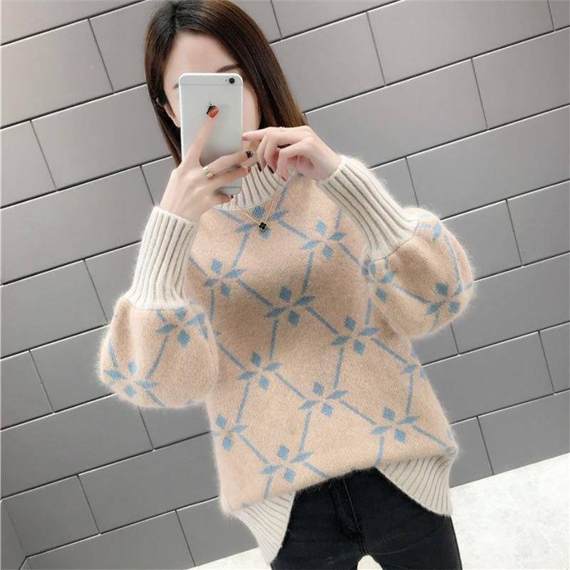 Jersey de Otoño de alta calidad, suéter cálido de invierno 2019 para mujer, Jersey suave de punto a la moda, jersey de otoño para mujer, suéter Top
