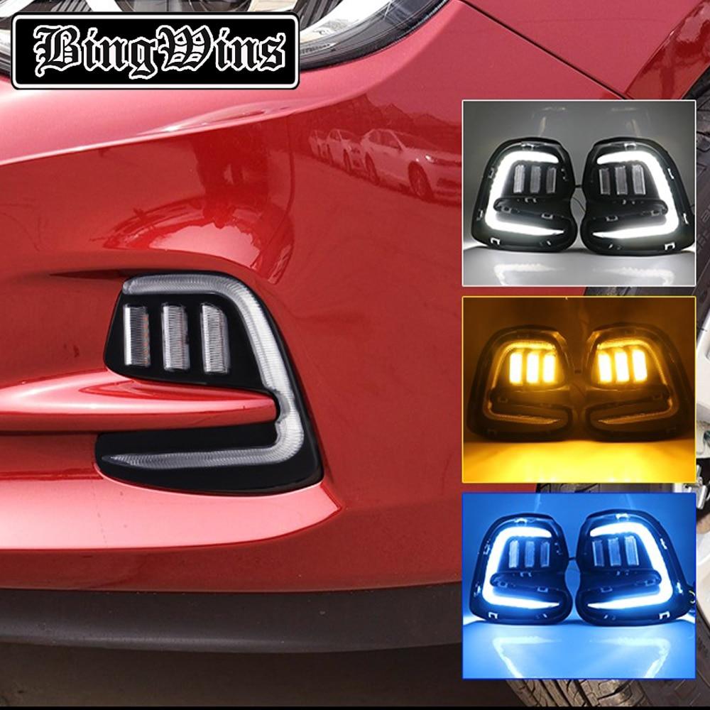 Modèles de phares antibrouillard modifiés   Style de voiture pour Chevrolet kovozi 16-19 feux de jour, phare de jour