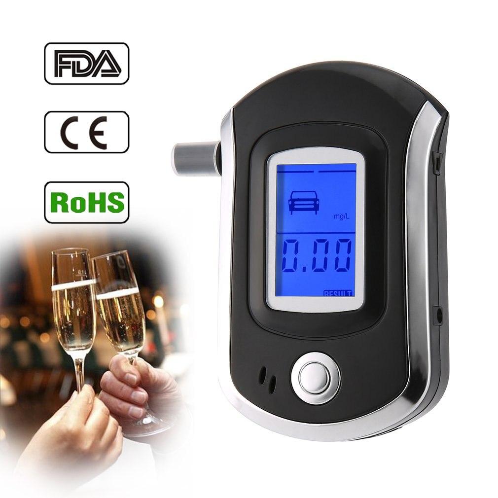 Профессиональный цифровой дыхательный алкоголь тестер алкотестер с ЖК-дисплеем с 11 мундштуками AT6000 горячая продажа dfdf