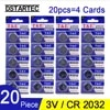 20pcs CR2032 3V לחצן מטבע נייד DL2032 KCR2032 5004LC ECR2032 CR2032 L2032 SB-T15 ליתיום סוללה עבור שעון צעצועים
