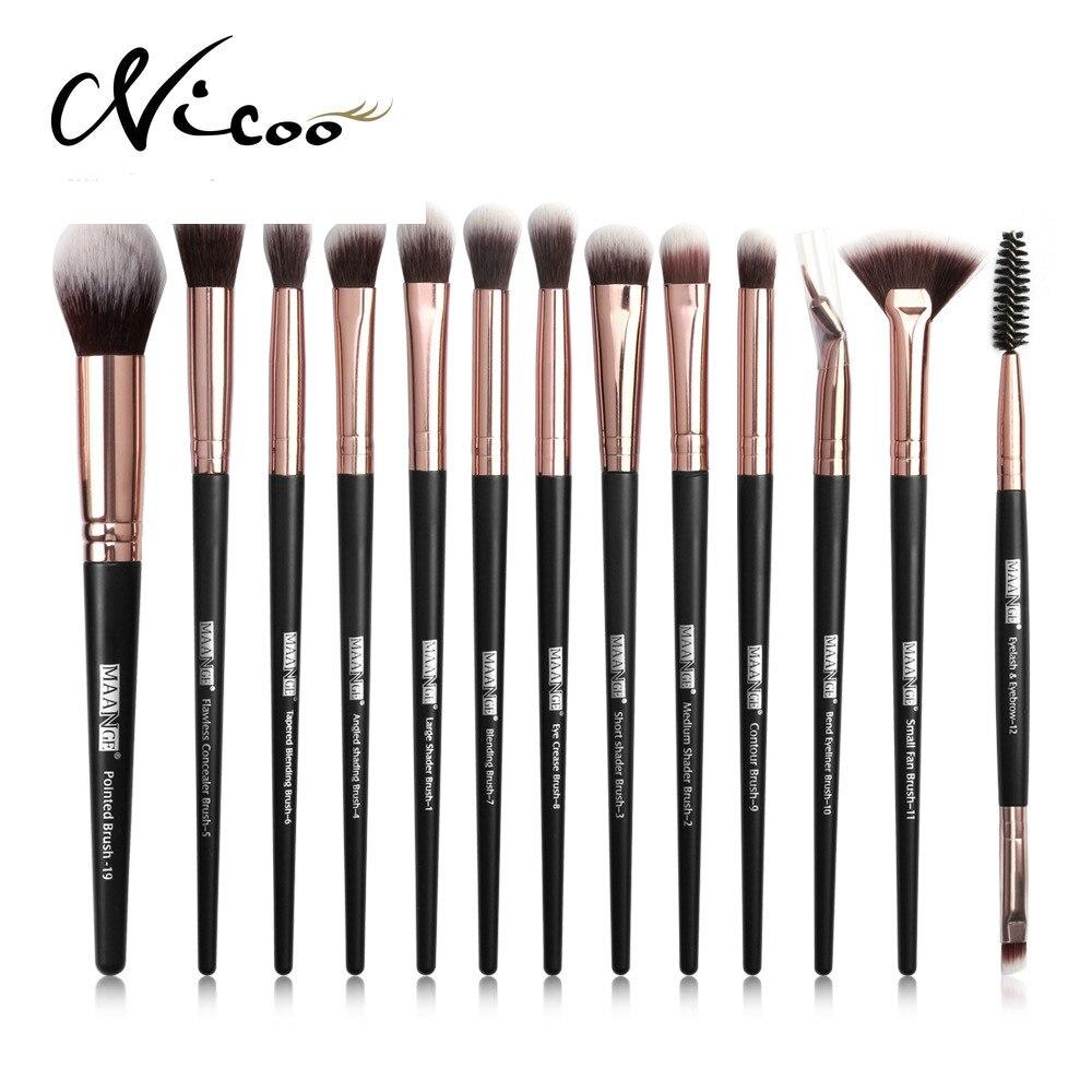 12Pcs Professional Makeup Brush Set Foundation Eye Shadow Cosmetics Blush Blending Beauty Make Up Brush Lash Brush Maquiagem недорого
