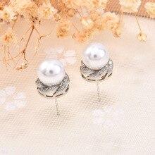 2020 populaire mode tempérament magnifique boucles doreilles femmes blanc perle de mariage filles cadeau bijoux femme une paire/ensemble