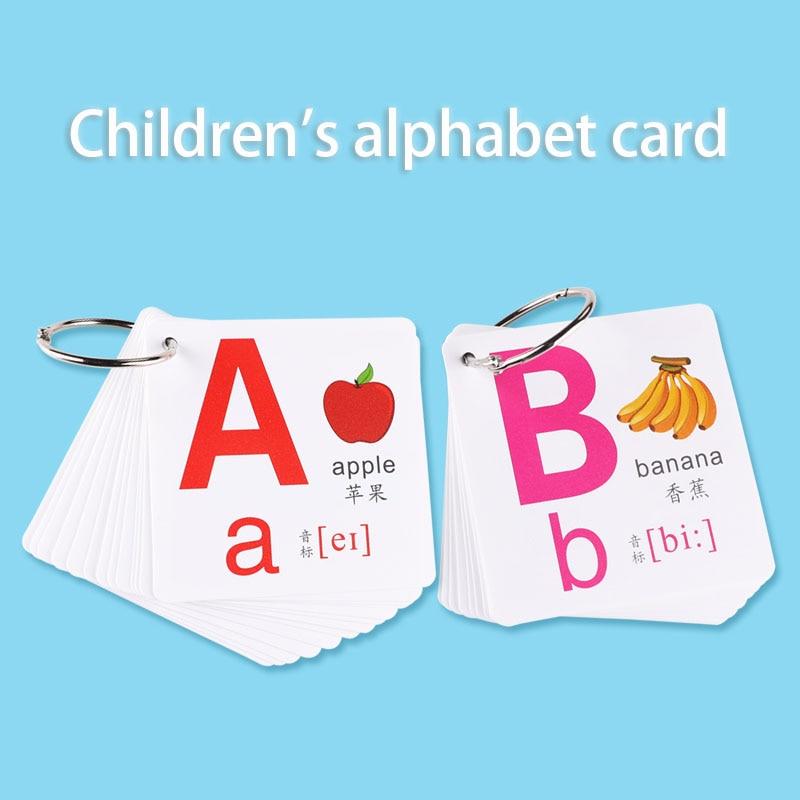 cartao de letra ingles da escola primaria da alfabetizacao das criancas 26 letras