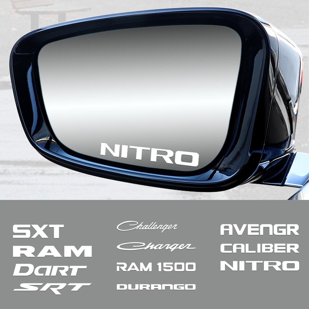 Pegatinas de coche, manija de puerta, calcomanías creativas de decoración para Dodge SXT Challenger RAM 1500, cargador Avengr Durango Caliber Dart Nitro SRT