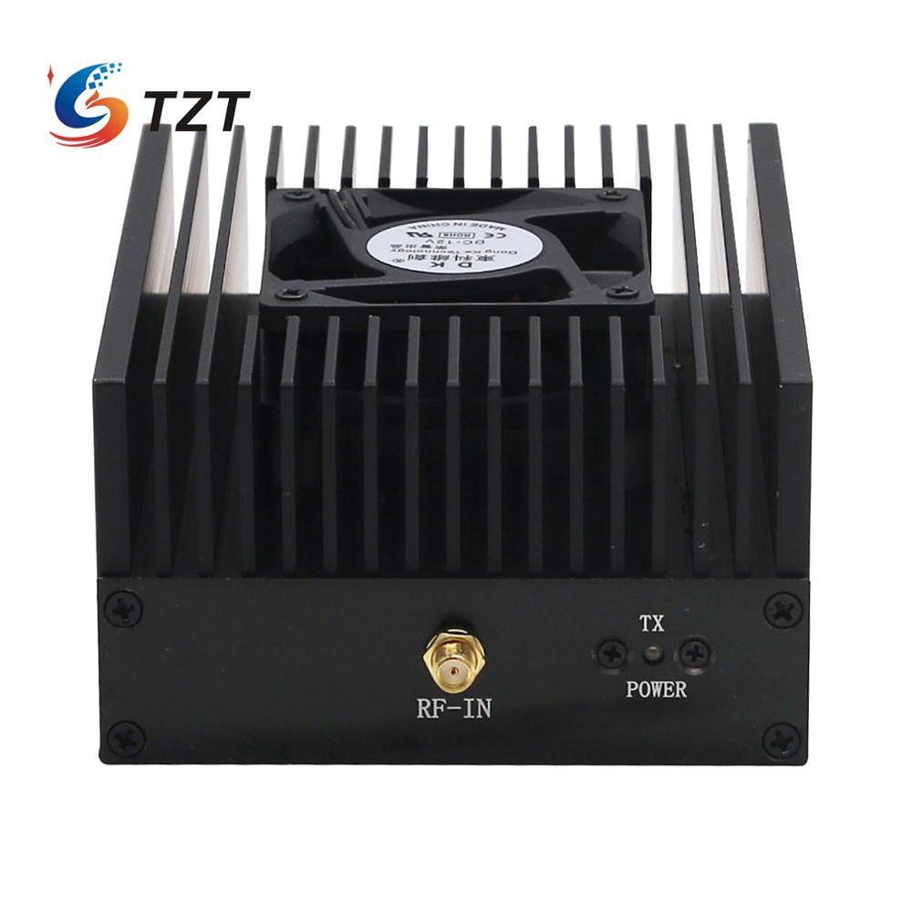 TZT 80W DMR DPM RP25 C4FM UHF 400-470MHZ Ham радио усилитель мощности интерфон