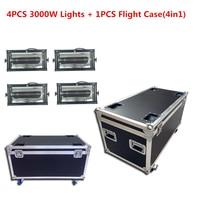 4PCS 3000W Lights + 1PCS Flight Case 3000W Atomic Strobe Light DMX strobe flash light Professional DJ Disco Party Stage Lighting