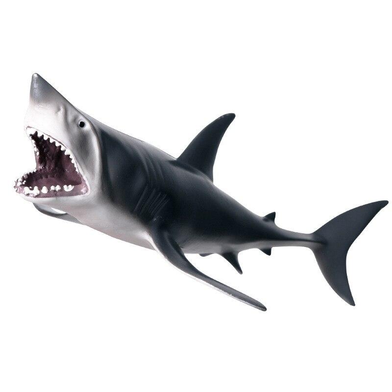 Figura de Pvc modelo tiburón diente animales Vida Marina modelos de juguetes de simulación