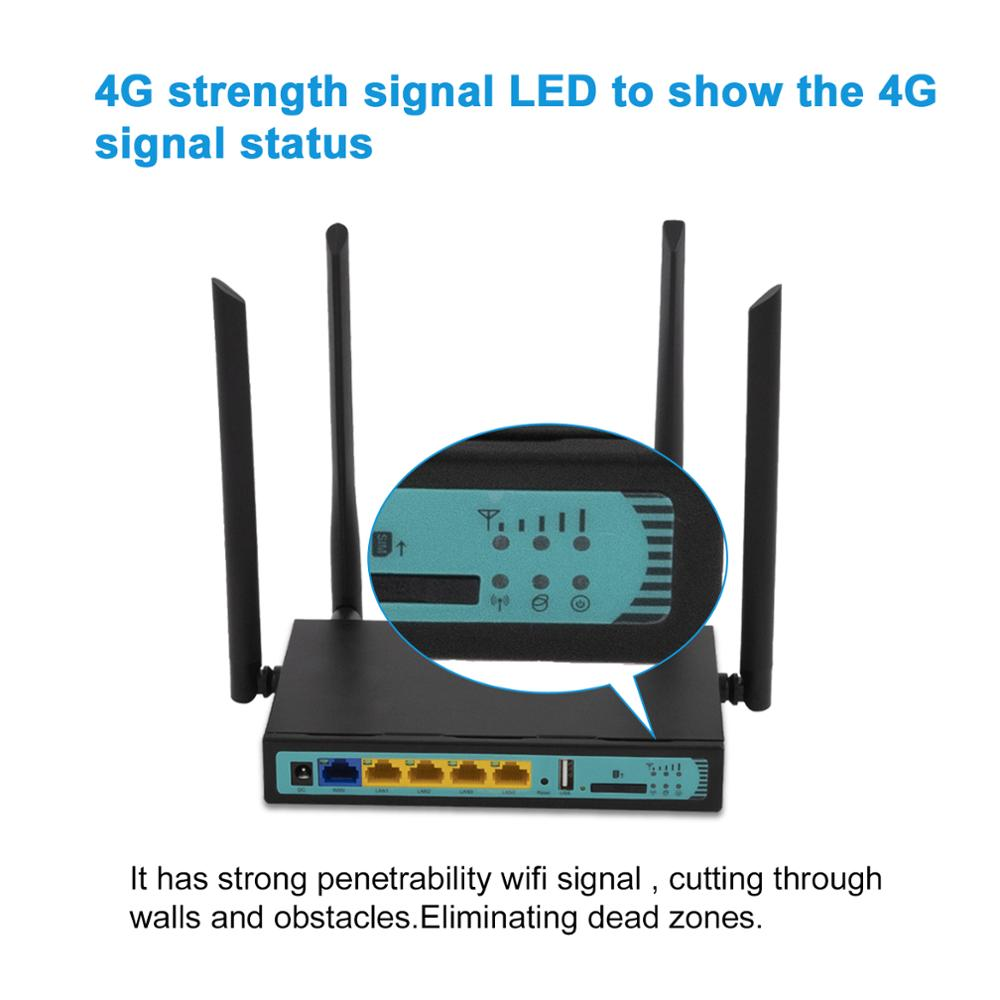4G Wireless WiFi Router Mobile Router with LAN Port Support SIM card USB Modem 5Port with WAP2 300Mbps 2.4G PCI-E router enlarge