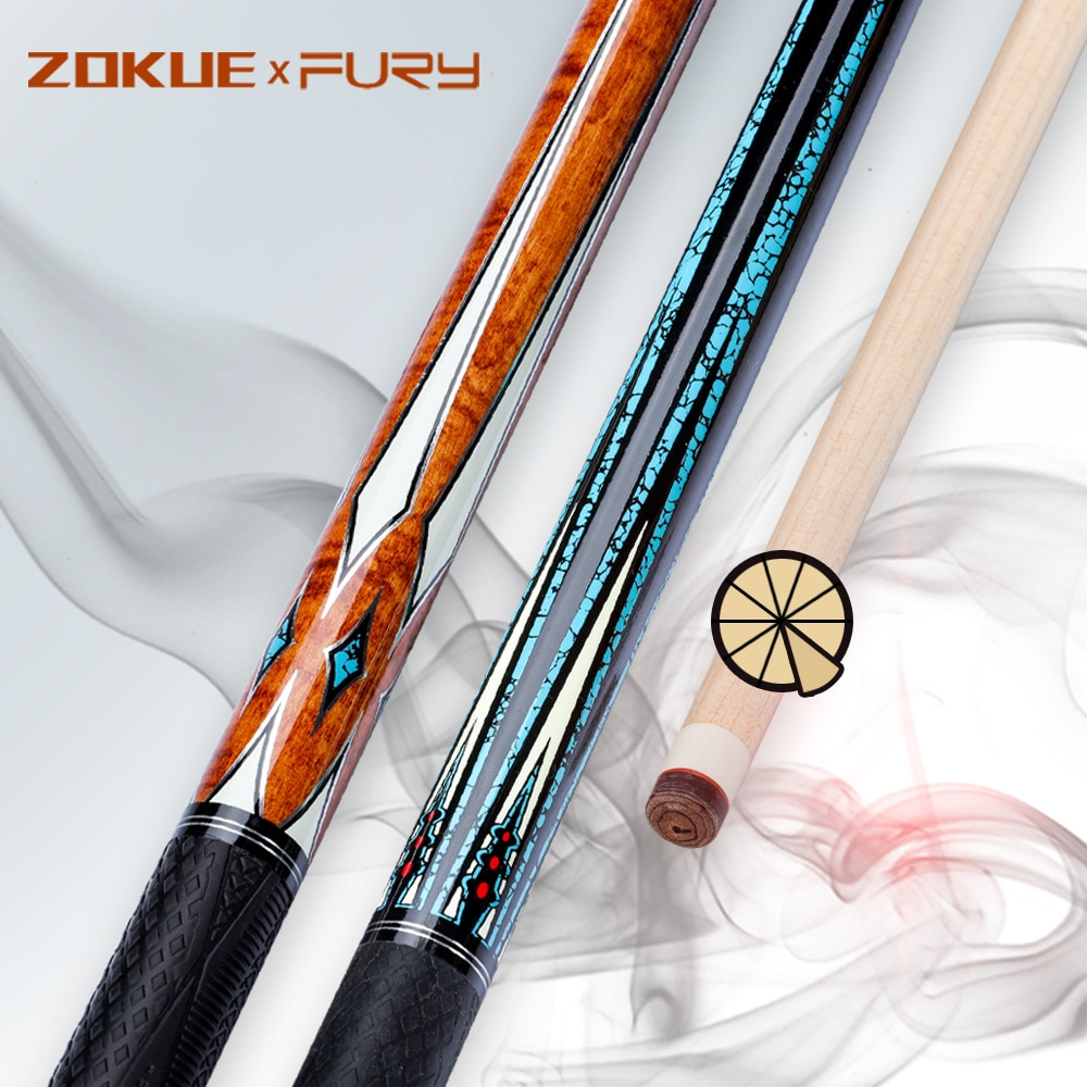 Fury ZOKUE Carom Cues 3 Cushion Cues Professional 11.8mm PU Grip Unique 10 in 1 Technical Shafts Quick Joint Billiard Carom Cue