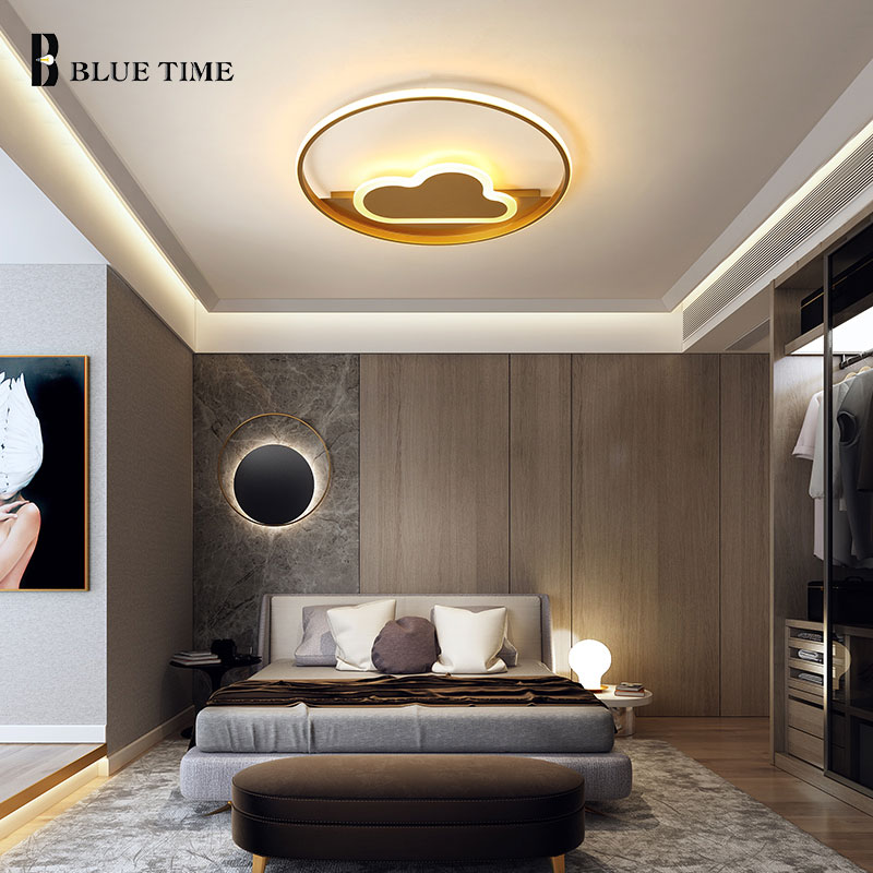 Modern Led Ceiling Light Acrylic Gold Metal Lamp Chandelier Ceiling Lamp for Home Bedroom Living room Kitchen Lighting Fixtures macarons ceiling lamps rose colors metal lamp body acrylic lamp shade colorful post modern ceiling light led lighting fixture