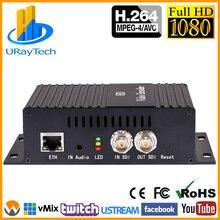 H.264 SD HD 3G SDI encodeur vidéo en continu encodeur IPTV pour HD-SDI 3G-SDI à IPTV Facebook YouTube Twitch etc serveur