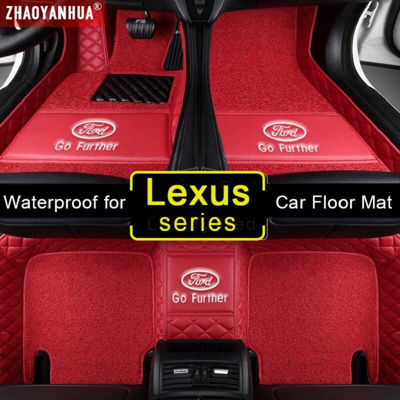 3D impermeable coche esteras para Lexus GX 460 470 GX 470 GX 400 GX 460 CT200h accesorios de cuero alfombras de piso alfombra