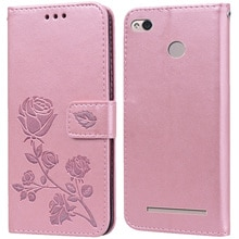 Luxury Leather Flip Book style Case for Xiaomi Redmi 3X 3S Note 3 Pro Rose Flower Wallet Stand Card