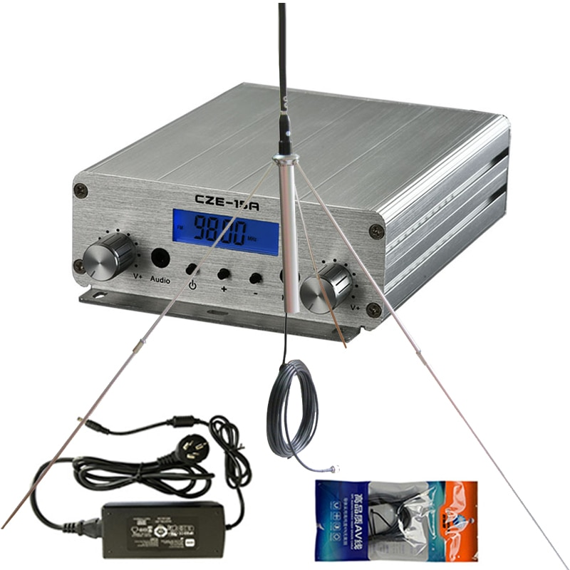 AliExpress - 0- 6 km Coverange FM Transmitter 15W for Radio Station