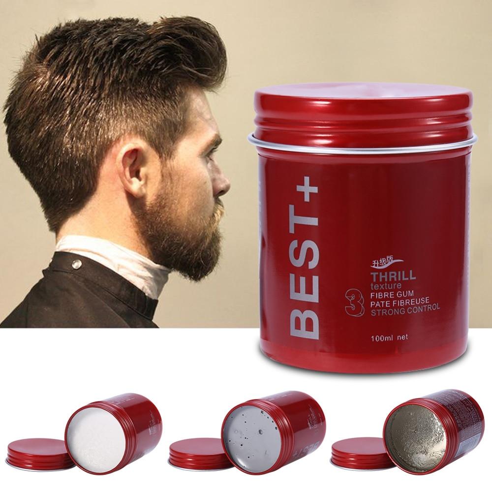 Pomada de cera de cabello profesional de 100 ml, pomada de pelo esponjosa de larga duración, cera, barro, crema para hombres, salón de belleza, crema de Gel de acabado para el cabello