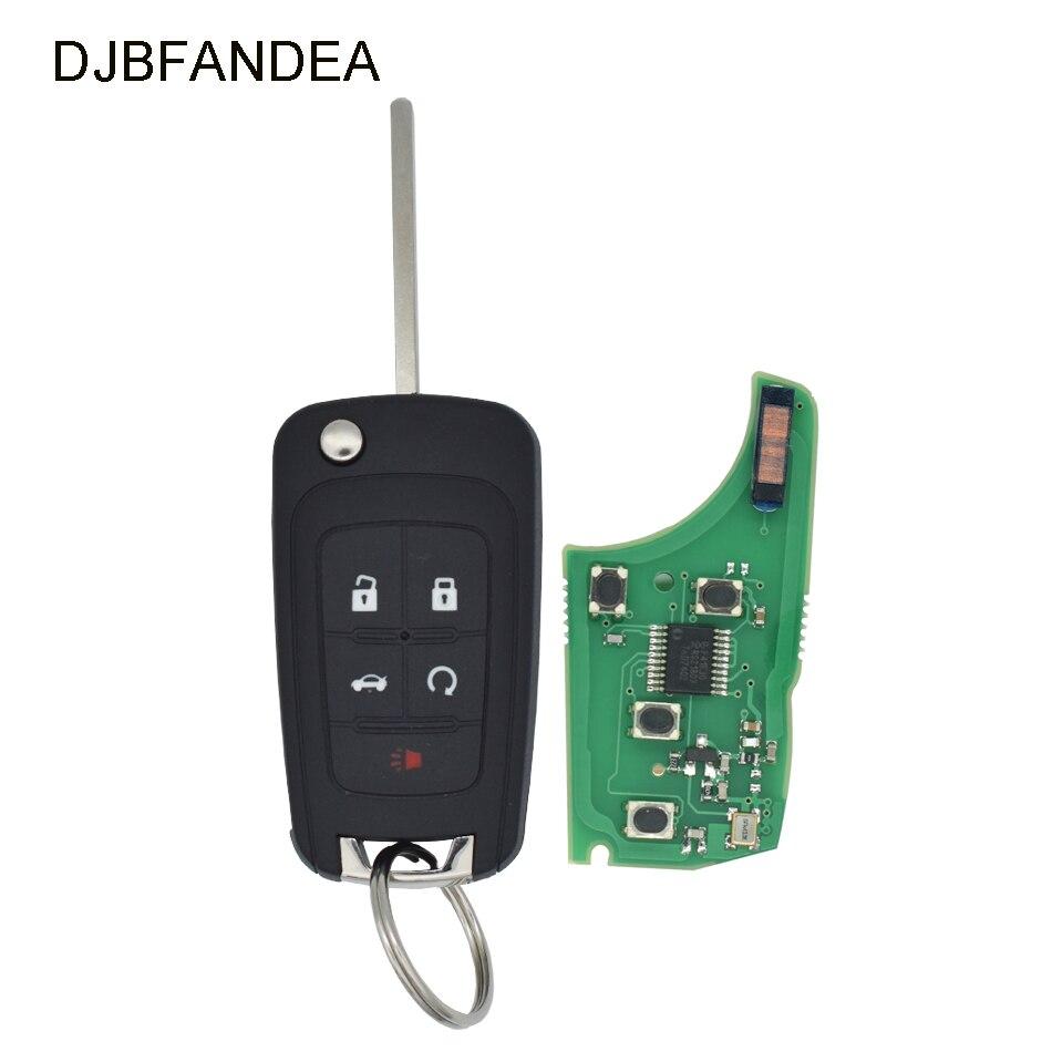 Transmissor keyless da entrada do começo remoto chave da aleta de djbfandea 315 mhz/433 mhz fob para chevy 2010-2017 equinox sônico terreno de gmc
