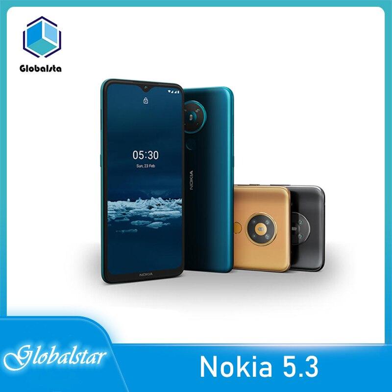 Перейти на Алиэкспресс и купить Nokia 5,3 Восстановленный Оригинальный Nokia 5,3 6,55 отличный занавес GPS WIFI FM радио Bluetooth один год гарантии Бесплатная доставка