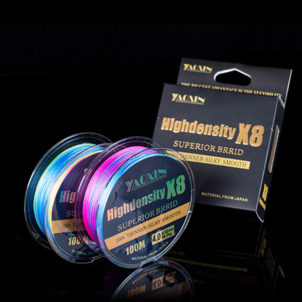 100M 8 Strands Braided Colorful Fishing Line 18-88LB Abrasion Resistant Superline Durable PE Buoyant Fishing Lines enlarge