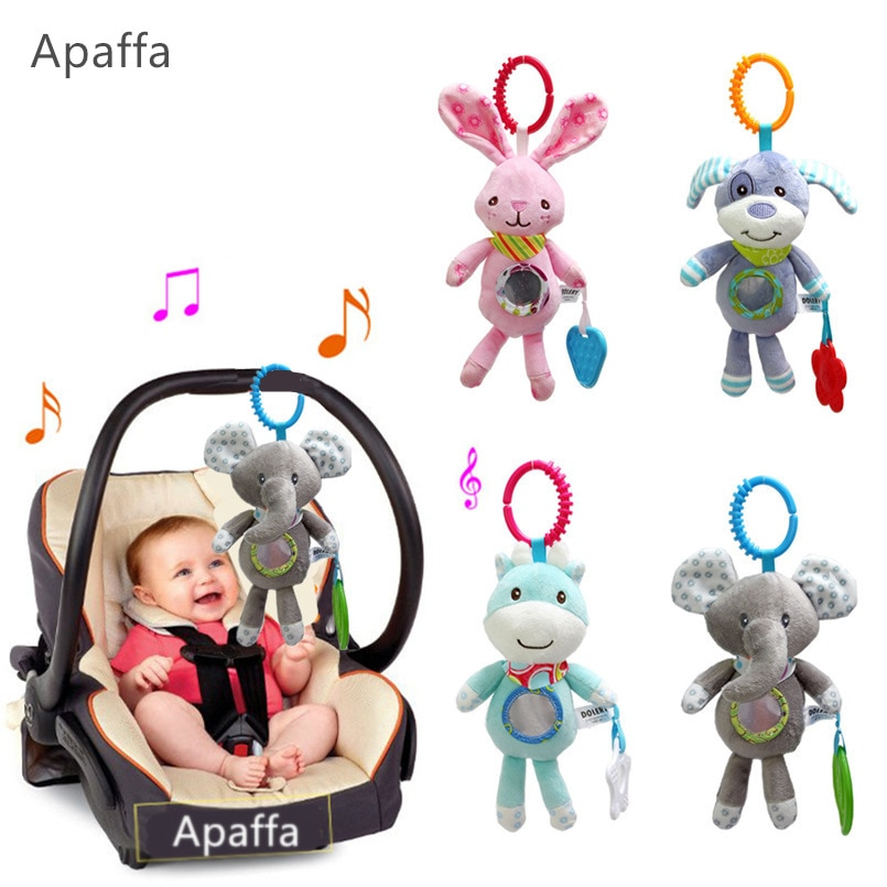 Baby Rattles Stroller Hanging Soft Toy mobile Bed Cute Animal Doll Elephant Rabbit Dog Baby Crib Han