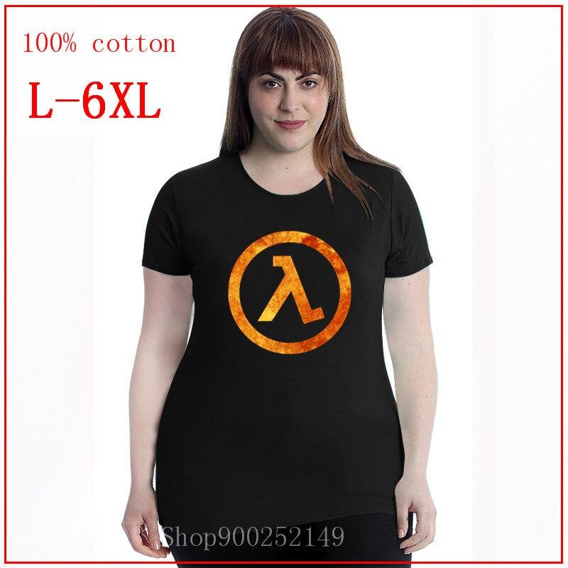 Camiseta de Half Life 3 I Want To Believe, camiseta bonita de algodón 100%, Camiseta básica de talla grande para mujer 4XL 5XL 6XL