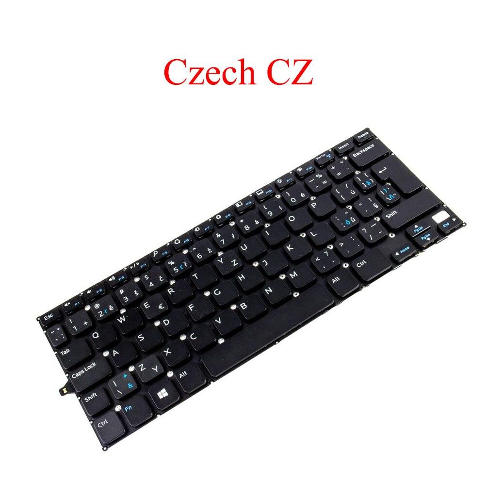 لوحة مفاتيح لأجهزة الكمبيوتر المحمول DELL For Inspiron 11 3000 3147 3148 3152 3153 3157 3158 2-in-1 P20T تشيكي CZ أسود جديد