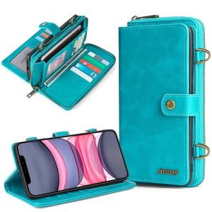 Detachable Wallet Phone Case For Samsung Galaxy Note20 Ultra M21 M30s S8 S9 S10 S20 Plus A20e A21s A20 A30 A40 A50 A51 A70 A71