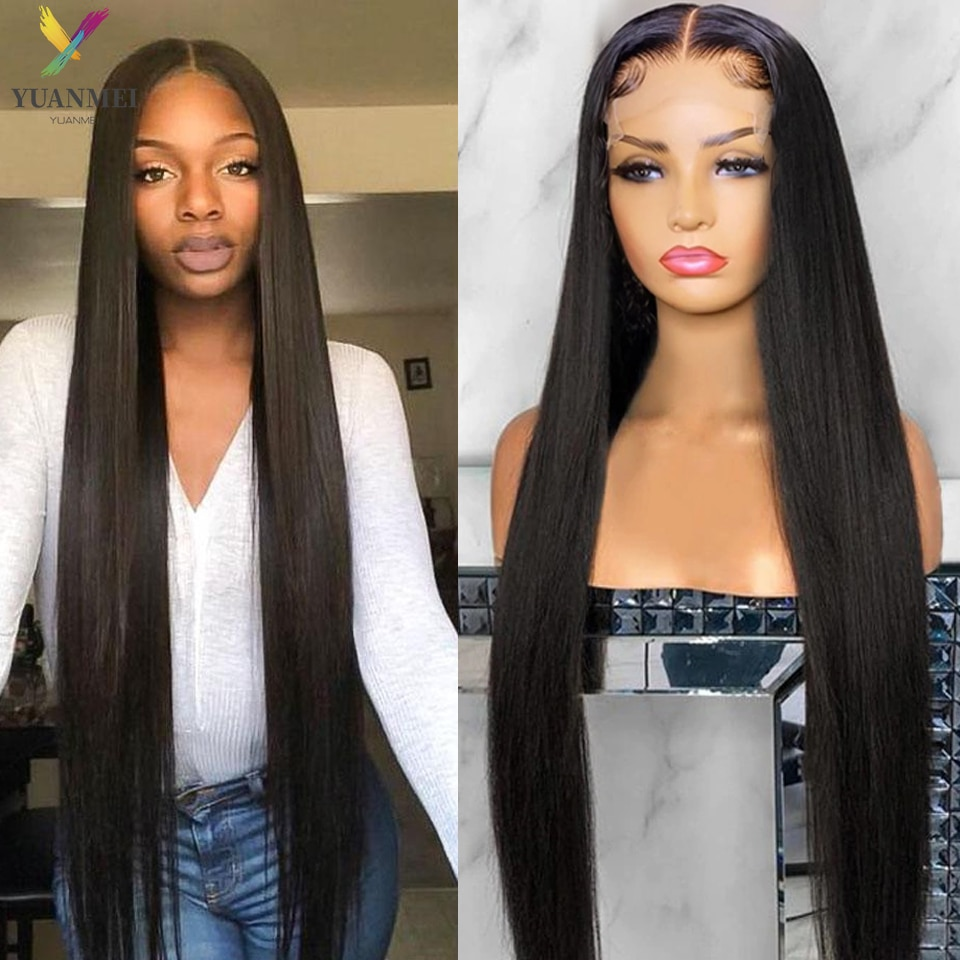 30 Inch Long Straight Lace Front Wig 4X4 Human Hair Lace Closure Wig Pre Plucked Brazilian Hair Wig Lace Frontal Wigs Remy