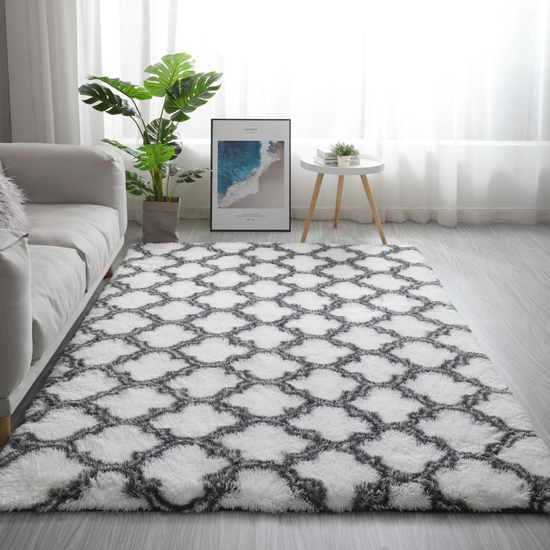 Nordic ins carpet living room coffee table bedside rug tatami rectangular floor mat children crawling mat balcony bay window rug