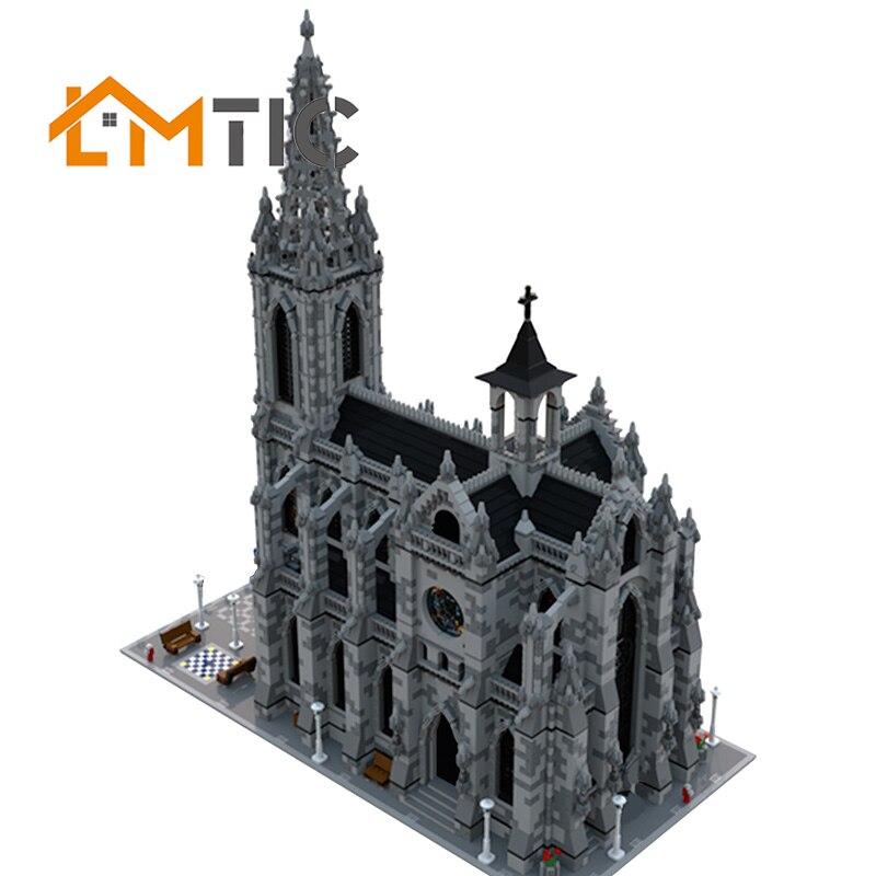 BuildS Moc Modular Catheral City Street View Simulation Collection Model Building Blocks Diy 21775pcs Bricks Education Xmas Gift