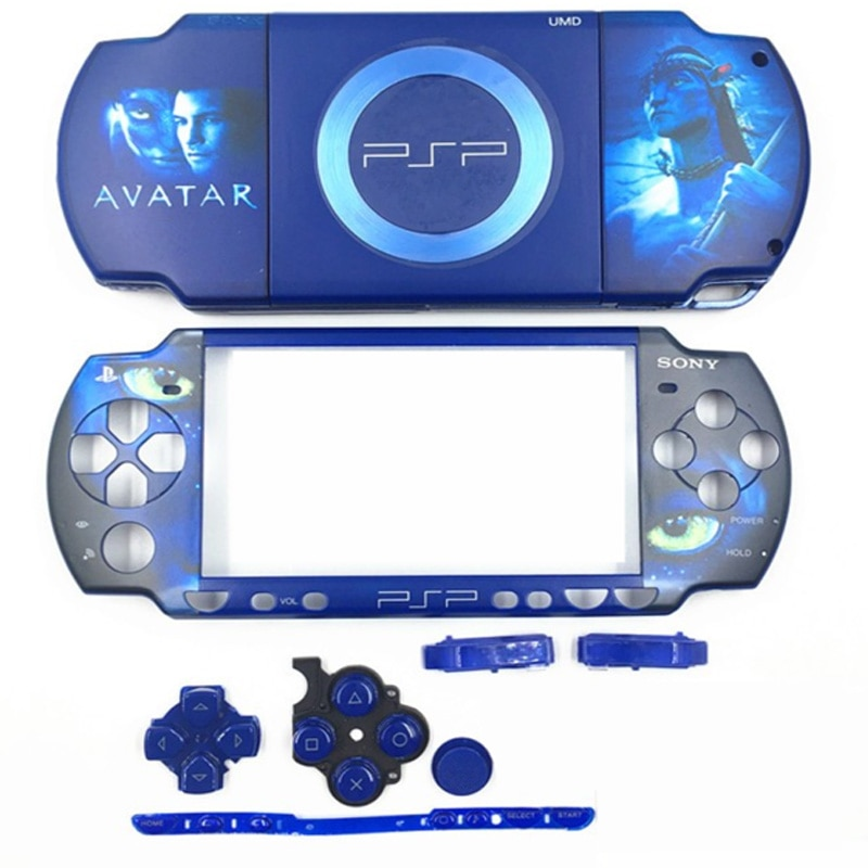 Housing Shell Game Console for PSP 2000 PSP2000 Replacement Limited Version Full Housing Shell Cover Case with Buttons Kit недорого