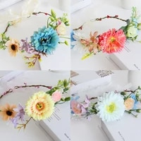 4 color simulation wreath personalized woven sunflower headband bridal dress headdress photo shooting props