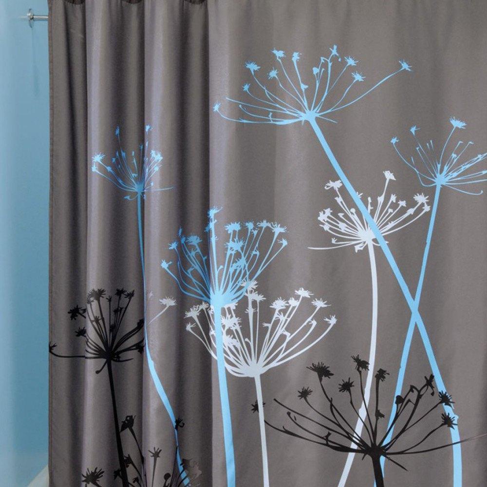 180x180cm 3D impermeable hermoso diente de león baño ducha cortina de baño de poliéster cortinas de baño