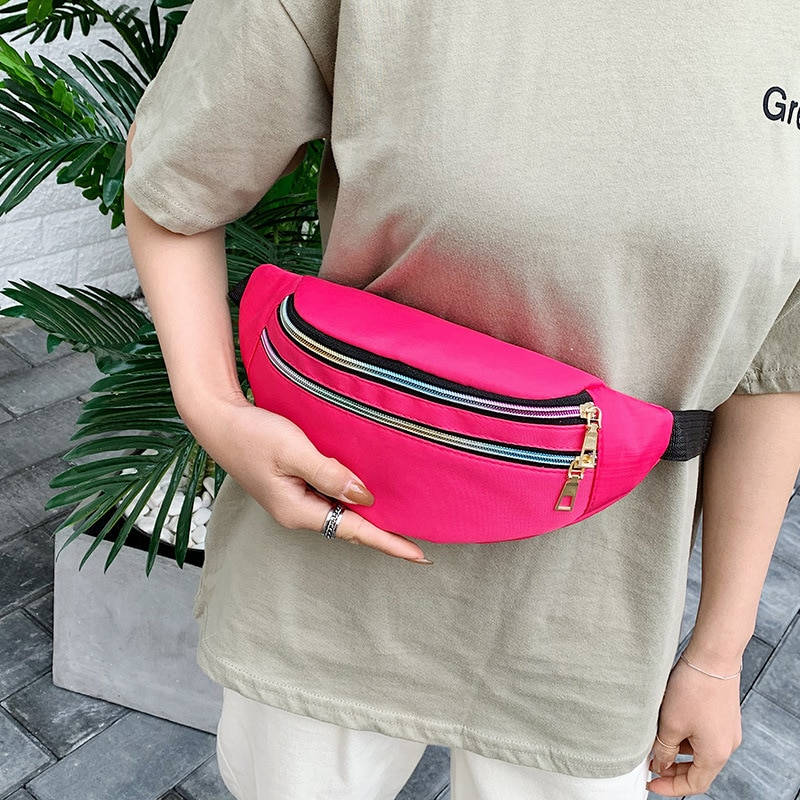 GO-LUCK Brand Casual Out-door Waist Pack Women Fanny Bag Waterproof Multi-function Sport Ride Runing Sling Chest Crossbody Bag