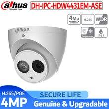 النسخة الإنجليزية مع شعار IPC-HDW4431EM-ASE 4 mp IR شبكة ip كاميرا الأمن poe مدمج في هيئة التصنيع العسكري ip 67 غلاف معدني
