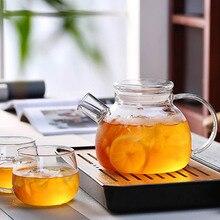 1000ml/1600ml bouilloire en verre cruche deau théières résistantes à la chaleur avec couvercle Transparent bureau à domicile-30