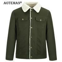 6xl men winter jackets fleece coat overalls men clothing male warm parkas cotton solid thermale casual outwear windbreaker lm243