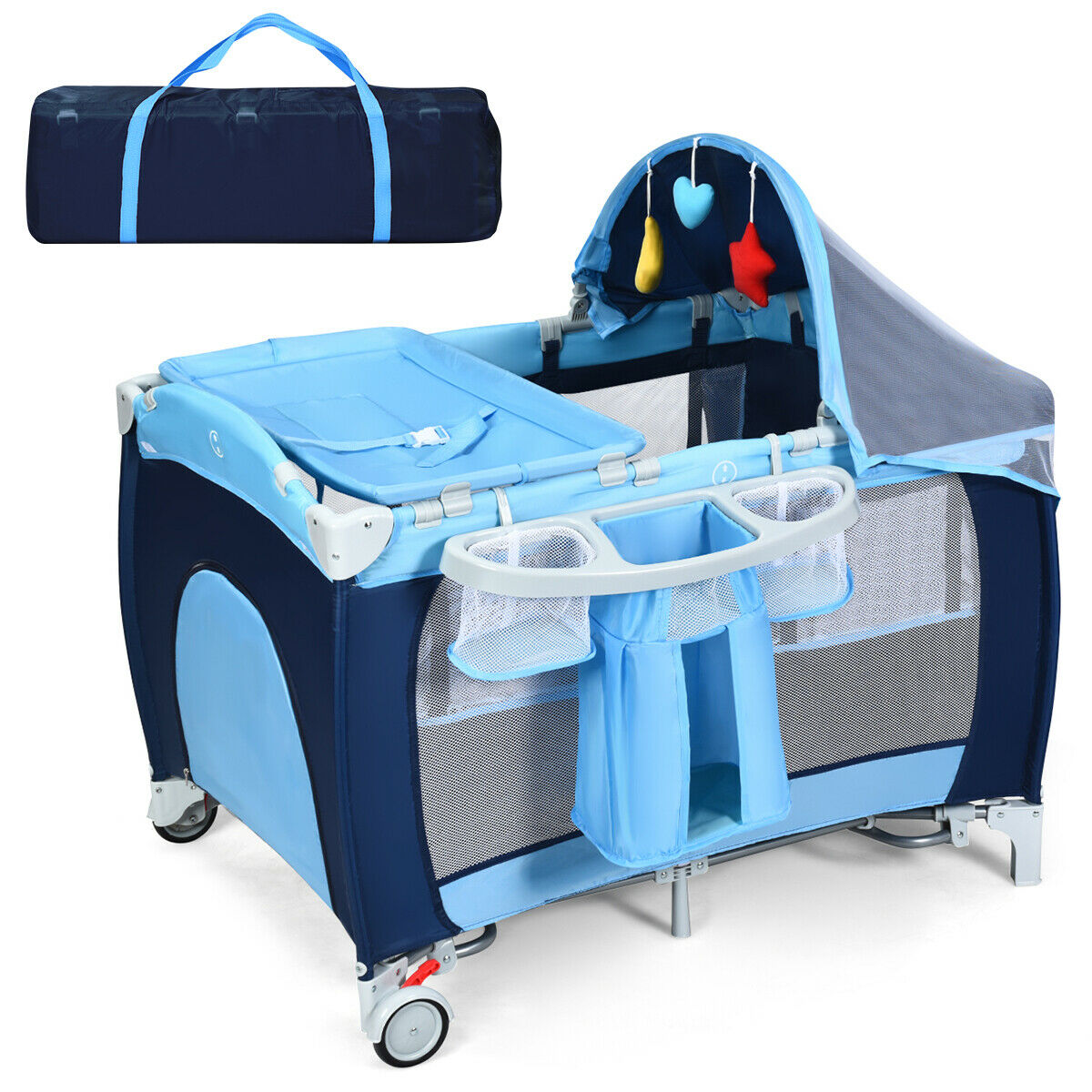 طوي سرير الطفل روضة السفر الرضع سرير شبكة بعوض للسرير المنزل ث/حقيبة