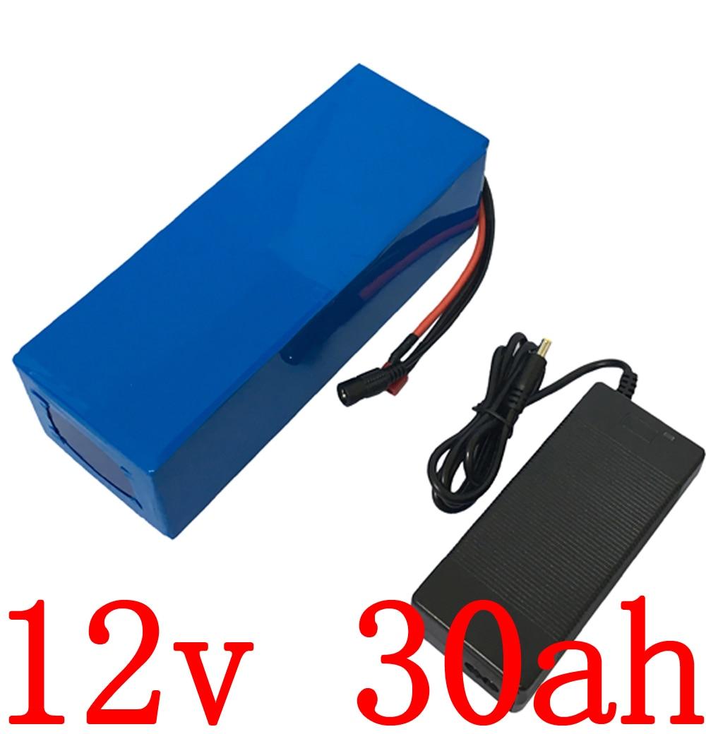12v 30 battery 12v 30ah electric bike battery 12v 30000mah Lithium ion battery with 12.6V 5A charger for LED  CCTV